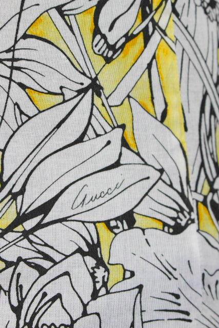 グッチ [ GUCCI ] skinny ロゴ フラワー カジュアルシャツ 半袖 SIZE[38/15] メンズ トップス シャツ