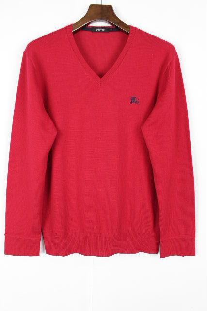 バーバリーブラックレーベル [ Burberry ] Vネック ニットセーター レッド 赤 長袖 SIZE[2] メンズ トップス バーバリー