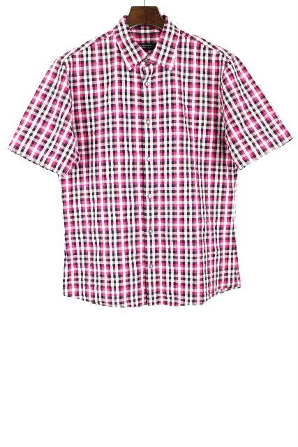 バーバリーブラックレーベル [ Burberry ] チェック柄 カジュアルシャツ 半袖 SIZE[3] メンズ トップス バーバリー シャツ