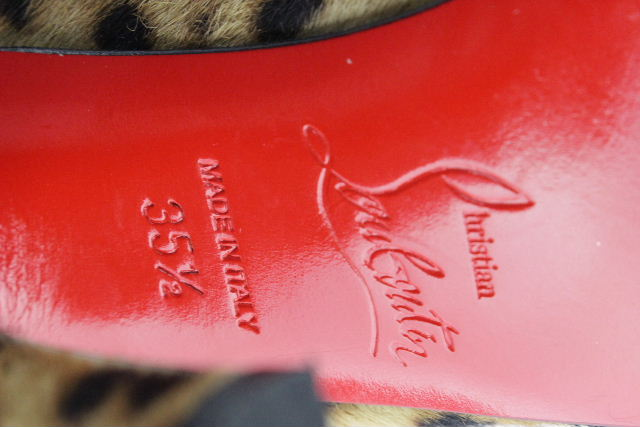 クリスチャンルブタン [ Louboutin ] レオパード柄 ハラコ パンプス SIZE[35.5] レディース ルブタン ヒール サンダル ヒョウ柄 豹柄