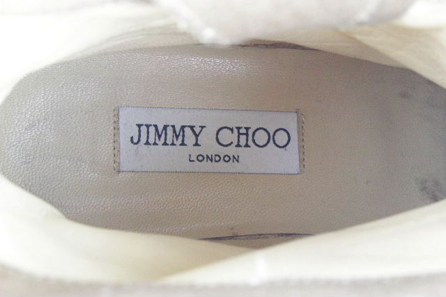 ジミーチュウ [ JIMMY CHOO ] エンジニアブーツ ラメ ゴールド SIZE[37] レディース ショートブーツ バイカーブーツ