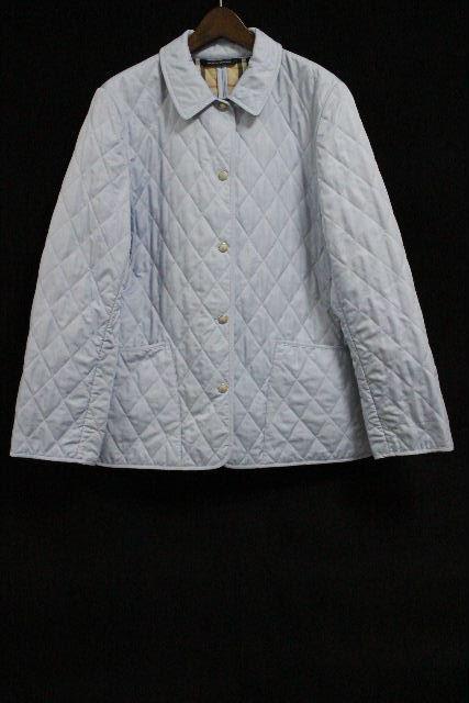 バーバリー [ BURBERRY LONDON ] 中綿 キルティング コート ブルー×チェック柄 SIZE[L相当] レディース ジャケット アウター