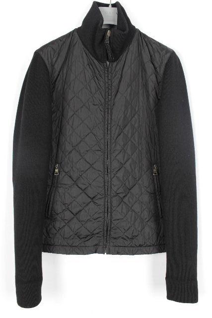 プラダスポーツ [ PRADA ] 中綿ダウン ジップアップ ブルゾン ブラック 黒 SIZE[46] メンズ アウター ジャンバー セーター
