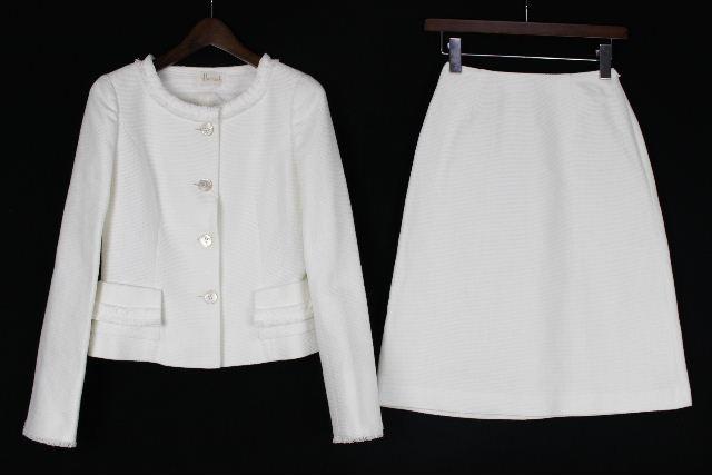 ハロッズ [ Harrods ] セットアップ スカート スーツ ホワイト 白 SIZE[1] レディース ノーカラージャケット
