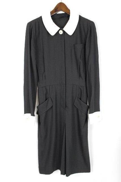 ミスアシダ [ miss ashida ] バイカラー 襟 ワンピース ブラック 黒 SIZE[7号] レディース ワンピ