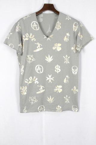 ルシアンペラフィネ Vネック Tシャツ グレー 半袖 SIZE[M~L相当(目安)] メンズ ペラフィネ トップス カットソー
