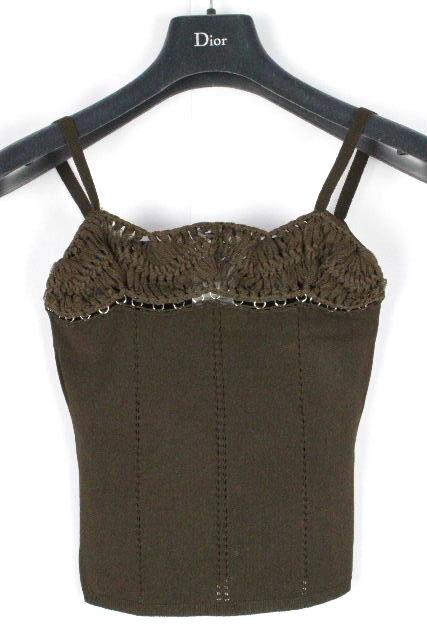 クリスチャンディオール [ Christian Dior ] ニット キャミソール ブラウン 茶色 レディース トップス カットソー ディオール