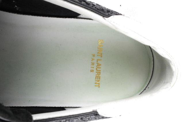 サンローラン [ SAINT LAURENT ] ラメ グリッター ローカットスニーカー ブラック 黒 SIZE[41] メンズ シューズ