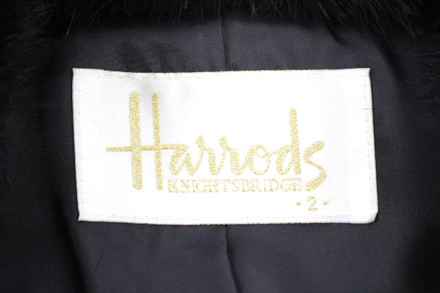 ハロッズ [ Harrods ] ファー コート ブラック 黒 SIZE[2] レディース トップス アウター