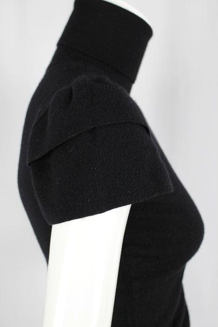 ハロッズ [ Harrods ] カシミヤ ハイネック パフスリーブ ニット セーター 黒 レディース トップス 半袖