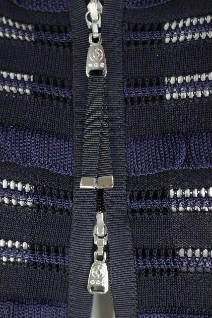 コトゥー [ COTOO ] ノーカラー フリル ジャケット カーディガン 紺色 SIZE[38] レディース トップス カーデ ボレロ