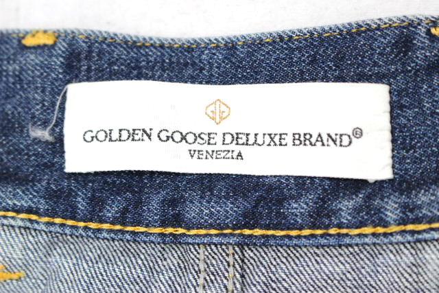 ゴールデングース [ GOLDEN GOOSE ] ノーカラー デニム ジャケット SIZE[XXS] レディース ジージャン Gジャン