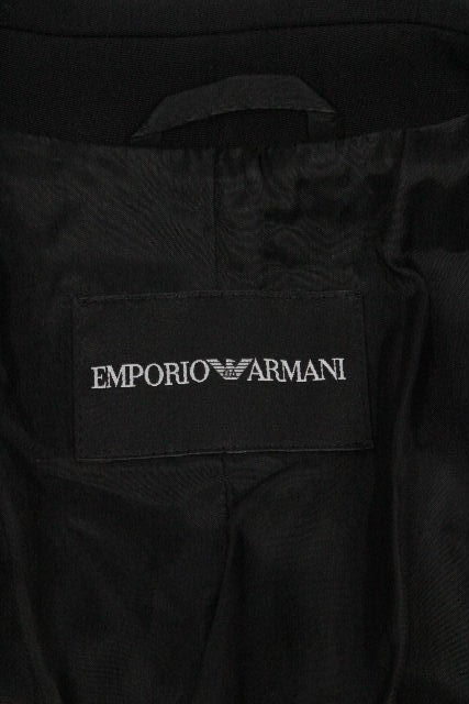 エンポリオアルマーニ [ ARMANI ] セットアップ パンツ スーツ ブラック 黒 レディース ジャケット スラックスパンツ アルマーニ