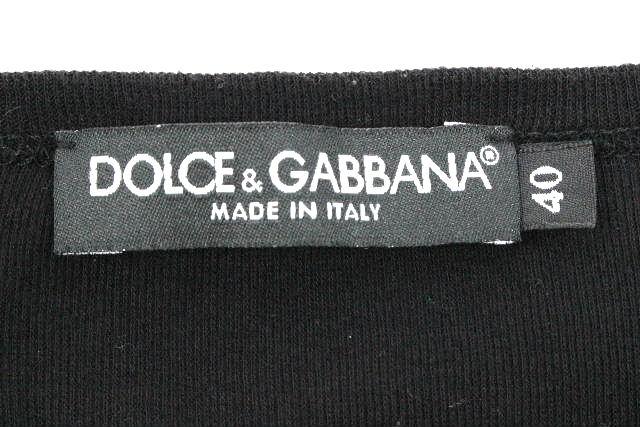 ドルチェ&ガッバーナ [ DOLCE&GABBANA ] プレート カットソー ブラック 黒 半袖 SIZE[40] レディース トップス Tシャツ ドルガバ