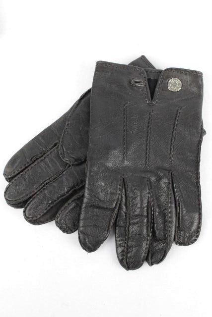 エルメス [ HERMES ] セリエ レザー グローブ ブラウン 茶色 SIZE[8] メンズ 手袋