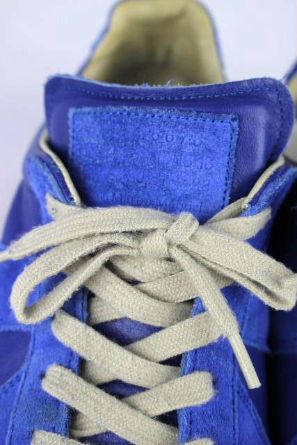 マルタンマルジェラ [ Martin Margiela REPLICA ] ラムスキン スニーカー ブルー 青色 SIZE[42] メンズ シューズ レプリカ