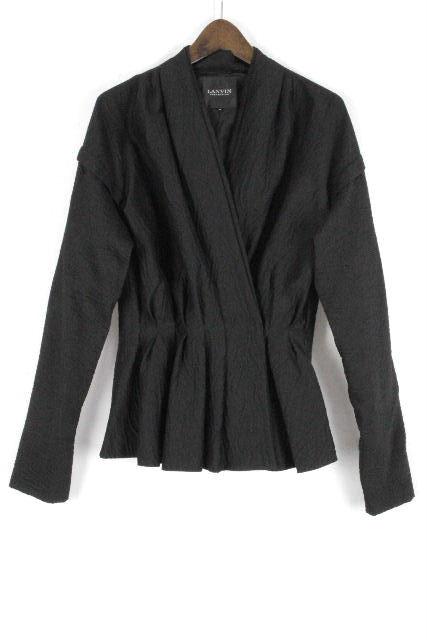 ランバンコレクション [ LANVIN COLLECTION ] シャツ ジャケット ブラック 黒 長袖 SIZE[38] レディース トップス ブラウス ランバン
