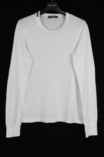 ドルチェ&ガッバーナ [ DOLCE&GABBANA ] ロング Tシャツ ホワイト 白 長袖 SIZE[46] メンズ トップス カットソー ロンT ドルガバ