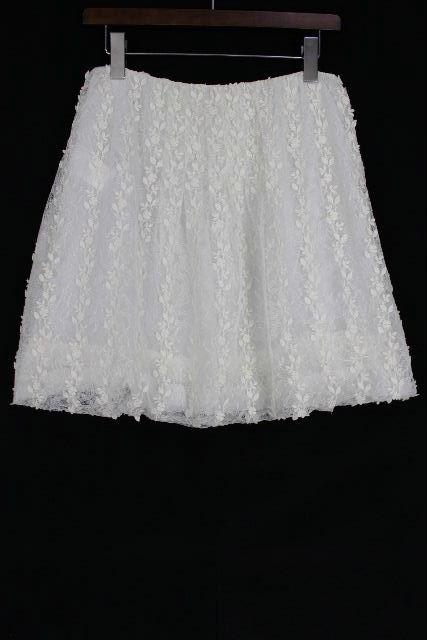 ヴァレンティノ [ VALENTINO ] レース フレアースカート ホワイト 白 SIZE[4] レディース ボトムス スカート