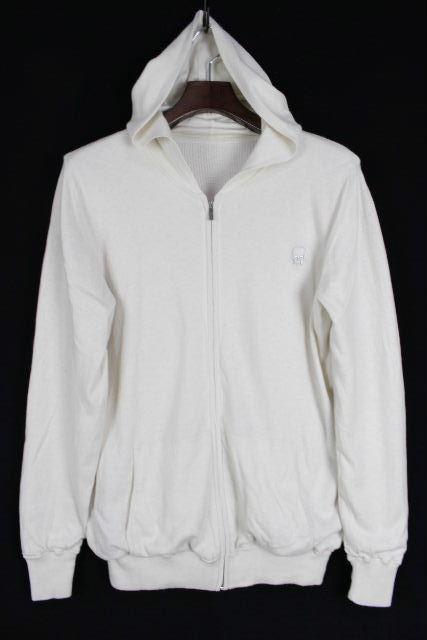 ルシアンぺラフィネ [ pellat-finet ] スカル カシミヤ混 ニット パーカー ホワイト 白 SIZE[S] メンズ セーター パーカ ぺラフィネ