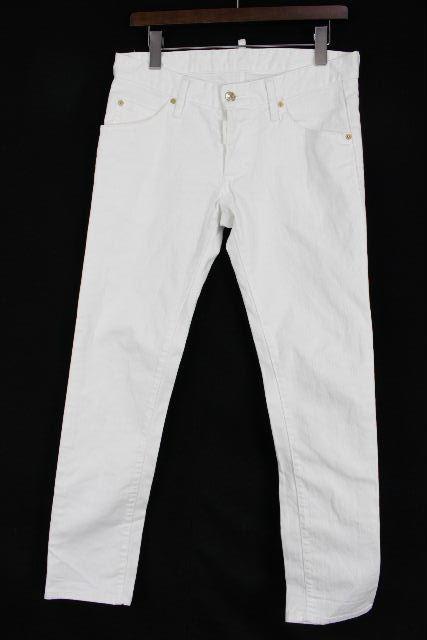 ディースクエアード [ DSQUARED2 ] スキニー ホワイトデニムパンツ SIZE[46] メンズ ボトムス ジーンズ ジーパン Gパン