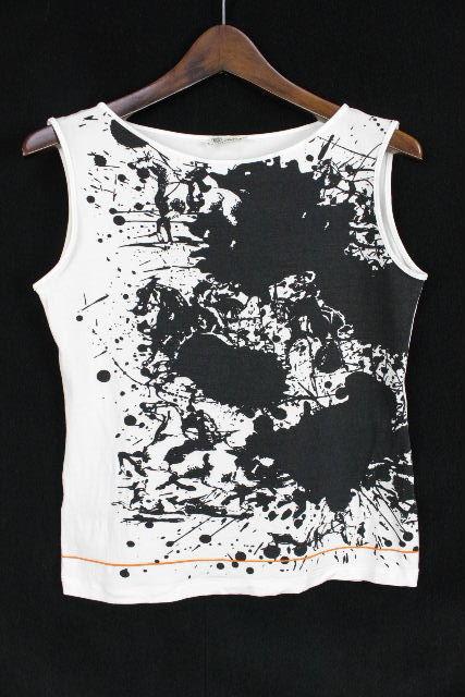 エルメス [ HERMES ] ペイント ノースリーブ カットソー ホワイト 白 SIZE[SM] レディース トップス タンクトップ Tシャツ