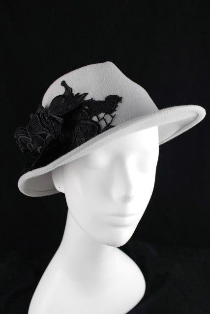 ミサハラダ [ misaharada ] 中折れ フラワー ハット 帽子 グレー レディース 女性用 中折れ帽子