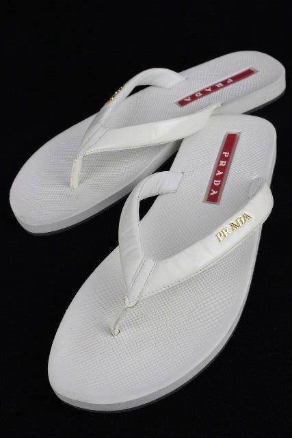 プラダスポーツ [ PRADA ] ビーチサンダル ホワイト 白 SIZE[39] メンズ プラダ サンダル 26~26.5cm