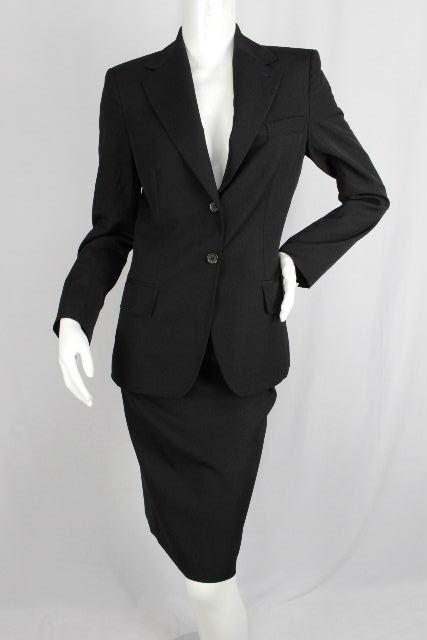 イヴ サンローラン [ SAINT LAURENT ] セットアップ スーツ ブラック 黒 SIZE[F38] レディース ジャケット スカート
