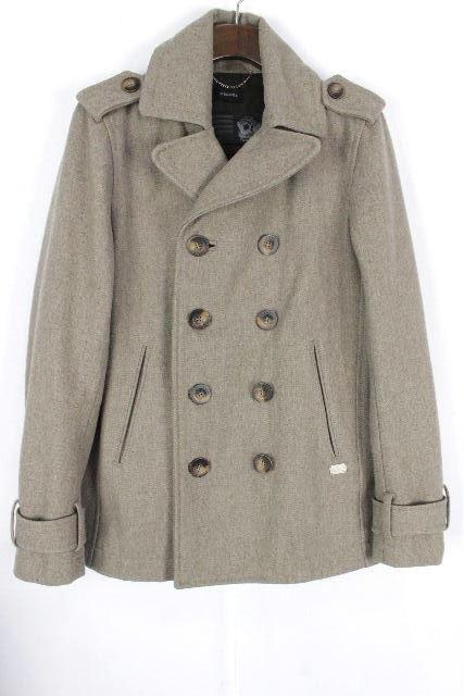 ディーゼル [ DIESEL ] Pコート グレーベージュ系 SIZE[S] メンズ アウター コート ジャケット ピーコート