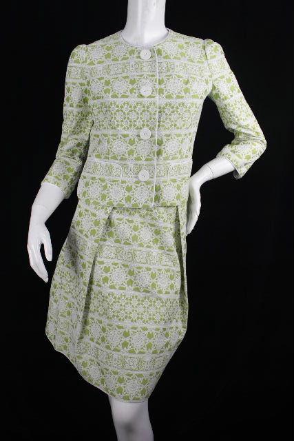 ハロッズ [ Harrods ] セットアップ スール 柄物 グリーン SIZE[2] レディース ジャケット スカート