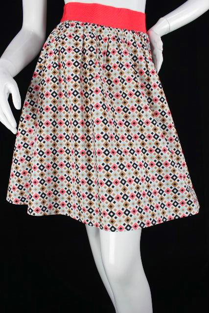 ポールカ [ PAUL KA ] 幾何学模様 フレアースカート ピンク系 SIZE[40] レディース ボトムス スカート