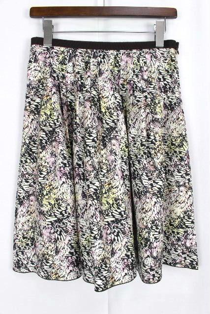 ポールカ [ PAUL KA ] フラワー フレアースカート ブラウン 茶色 SIZE[38] レディース ボトムス スカート 花柄