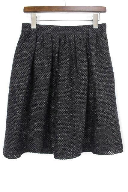 ポールカ [ PAUL KA ] メッシュ フレアースカート ブラック 黒 SIZE[40] レディース ボトムス スカート