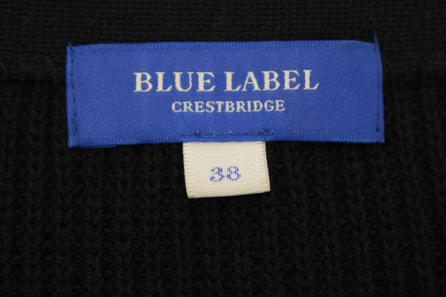 ブルーレーベル クレストブリッジ [ BLUE LABEL ] ニット ワンピース ネイビー 紺色 SIZE[38] レディース ロング セーター チュニック
