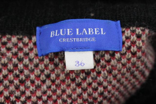 ブルーレーベル クレストブリッジ [ BLUE LABEL ] チェック柄 ニット ワンピース レッド 赤 SIZE[36] レディース ワンピ