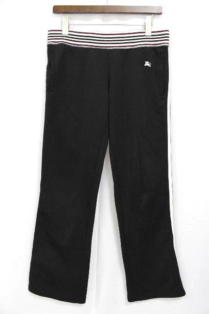 バーバリーブラックレーベル [ BUEBERRY ] ジャージ スエット パンツ 黒 SIZE[2] メンズ バーバリー ボトムス リラックスパンツ イージーパンツ