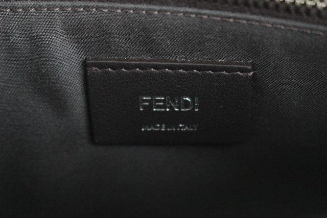 フェンディ [ FENDI ] スタッズ バイザウェイ グレー ハンドバッグ ショルダーバッグ 2WAY バッグ