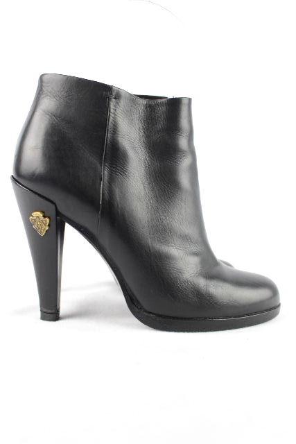 グッチ [ GUCCI ] レザー ショートブーツ ブラック 黒 SIZE[34.5C] レディース ブーティ ブーツ パンプス 22.5cm