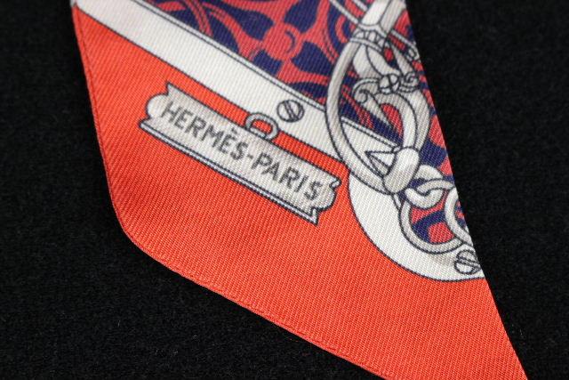 エルメス [ HERMES ] トゥイリー リボンスカーフ レッド 赤 ツイリー ツィイリー トゥイーリー