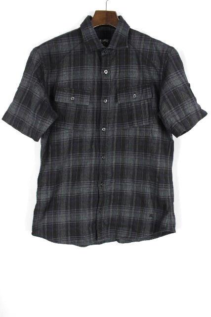 バーバリーブラックレーベル [ Burberry ] チェック柄 ネルシャツ 半袖 SIZE[2] メンズ トップス カジュアルシャツ サファリシャツ
