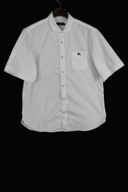 バーバリーブラックレーベル [ Burberry ] ロールアップ ホースマーク カジュアルシャツ 半袖 SIZE[40] メンズ バーバリー トップス シャツ