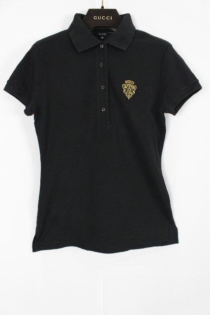 グッチ [ GUCCI ] シェリーライン ポロシャツ ブラック 黒 半袖 SIZE[XS] レディース トップス カットソー