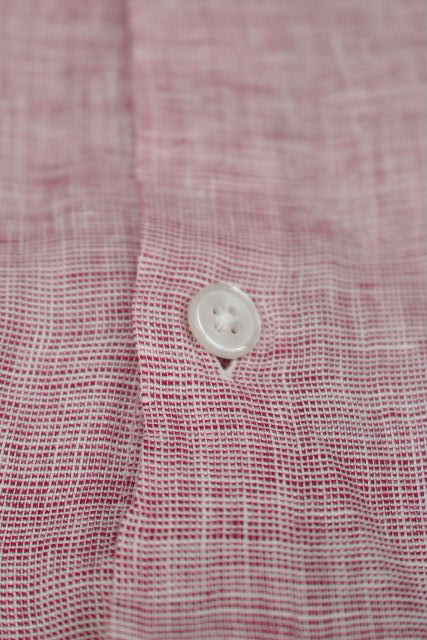 アルマーニ [ ARMANI ] リネン カジュアルシャツ レッド ピンク系 半袖 SIZE[L] メンズ トップス シャツ 麻