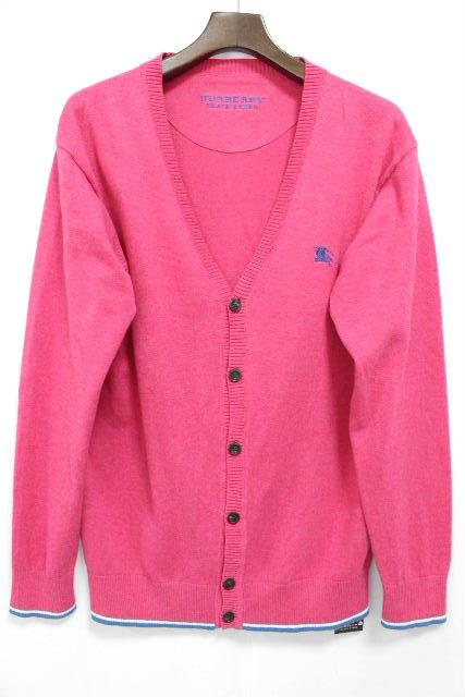 バーバリーブラックレーベル [ Burberry ] ホースマーク カーディガン ピンク 長袖 SIZE[3] メンズ トップス カーデ