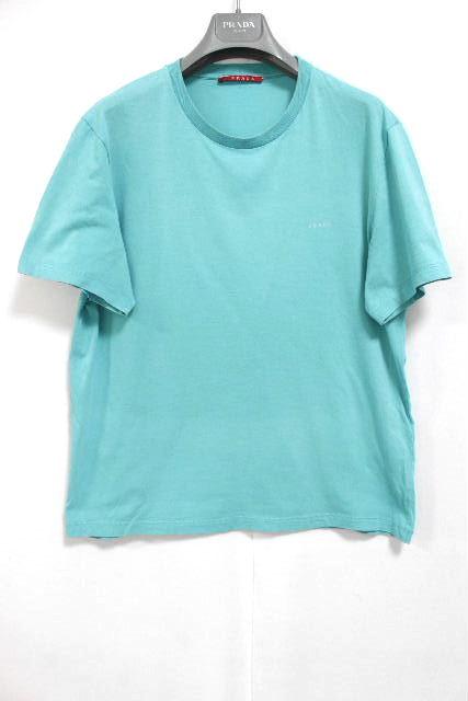プラダスポーツ [ PRADA ] ロゴ Tシャツ ブルー 半袖 SIZE[M] メンズ プラダトップス Tシャツ カットソー