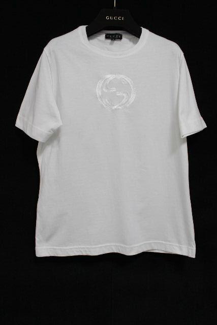 グッチ [ GUCCI ] GG刺繡 Tシャツ ホワイト 白 半袖 SIZE[S] メンズ トップス カットソー