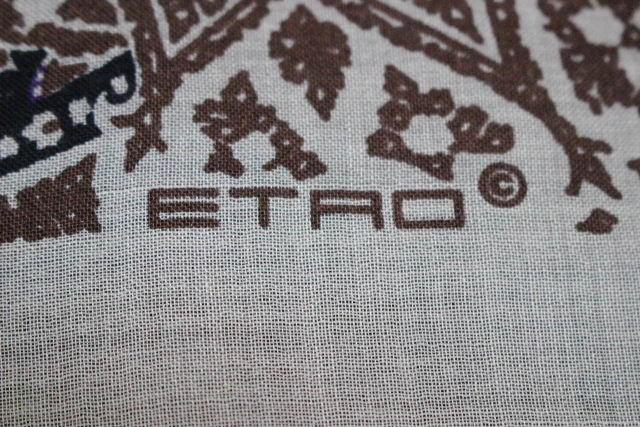 エトロ [ ETRO ] ペイズリー柄 ショール ライトベージュ系 メンズ レディース ストール マフラー