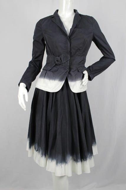 online retailer 442a4 f281c プラダ [ PRADA ] セットアップ スカート スーツ ネイビー ...