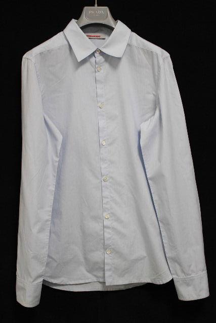 プラダスポーツ [ PRADA ] カジュアルシャツ ブルー 長袖 SIZE[S] メンズ プラダトップス シャツ